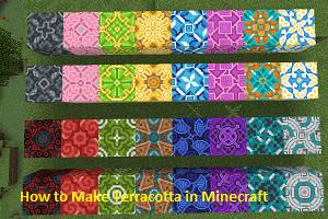 Make Terracotta in Minecraft
