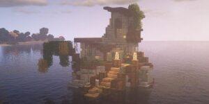 Abandoned House At Sea
