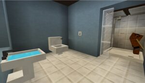 How to make a bathroom in Minecraft